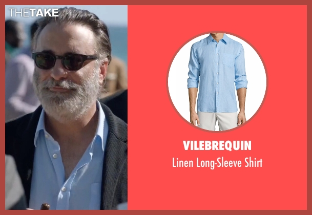 Vilebrequin blue shirt from Ballers seen with Andre Allen (Andy Garcia)