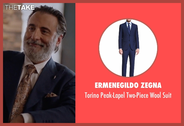 Ermenegildo Zegna blue suit from Ballers seen with Andre Allen (Andy Garcia)