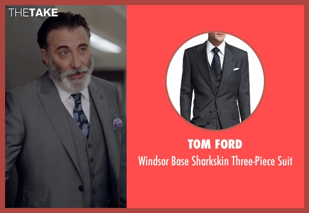 Tom Ford gray suit from Ballers seen with Andre Allen (Andy Garcia)