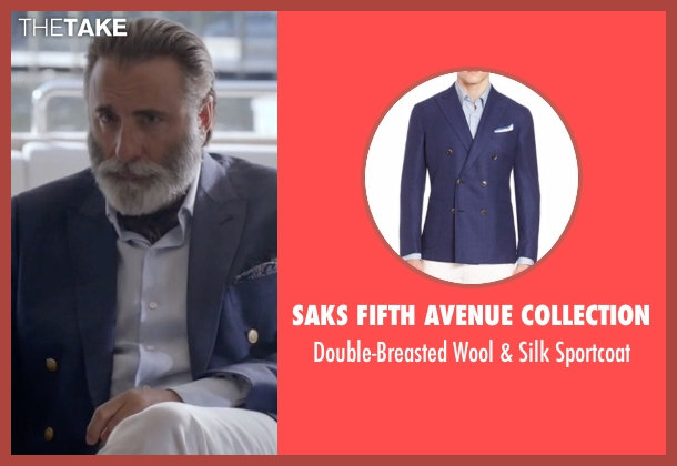 Saks Fifth Avenue Collection  sportcoat from Ballers seen with Andre Allen (Andy Garcia)