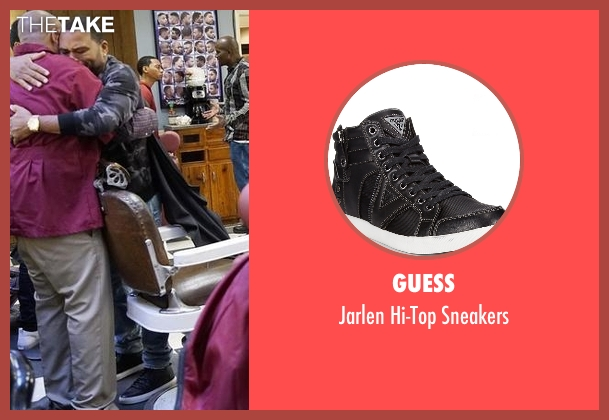 Guess black sneakers from Black-ish seen with Andre 'Dre' Johnson (Anthony Anderson)