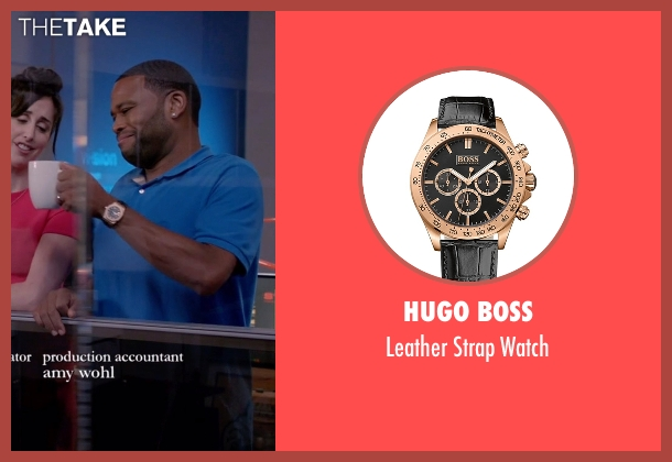 Hugo Boss black watch from Black-ish seen with Andre 'Dre' Johnson (Anthony Anderson)