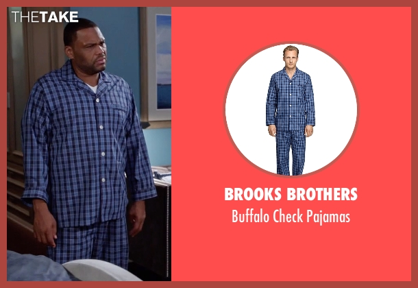 Brooks Brothers blue pajamas from Black-ish seen with Andre 'Dre' Johnson (Anthony Anderson)