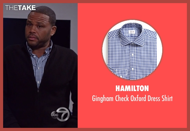 Hamilton blue shirt from Black-ish seen with Andre 'Dre' Johnson (Anthony Anderson)