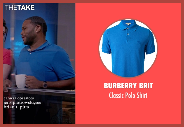Burberry Brit blue shirt from Black-ish seen with Andre 'Dre' Johnson (Anthony Anderson)