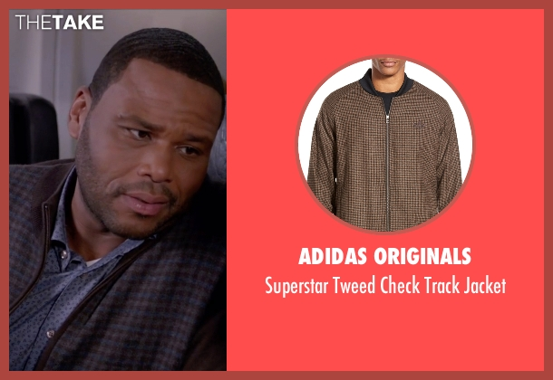 Adidas Originals brown jacket from Black-ish seen with Andre 'Dre' Johnson (Anthony Anderson)