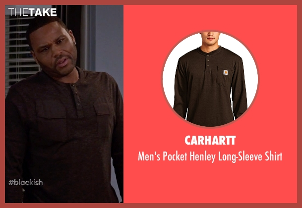 Carhartt brown shirt from Black-ish seen with Andre 'Dre' Johnson (Anthony Anderson)