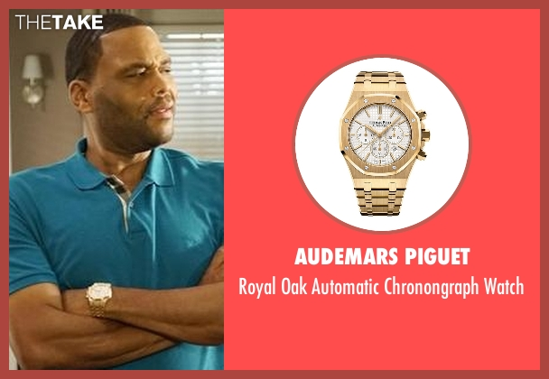 Lucien Piccard gold watch from Black-ish seen with Andre 'Dre' Johnson (Anthony Anderson)