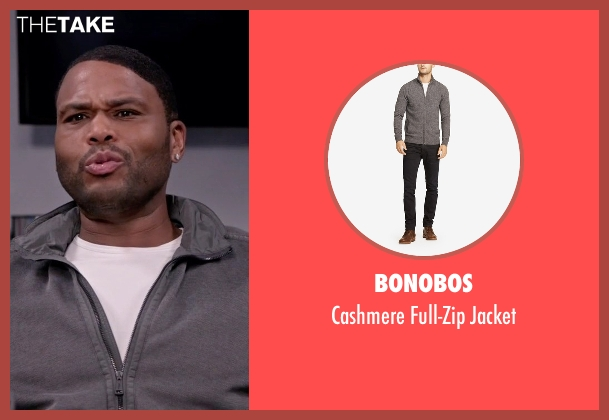 Bonobos gray jacket from Black-ish seen with Andre 'Dre' Johnson (Anthony Anderson)