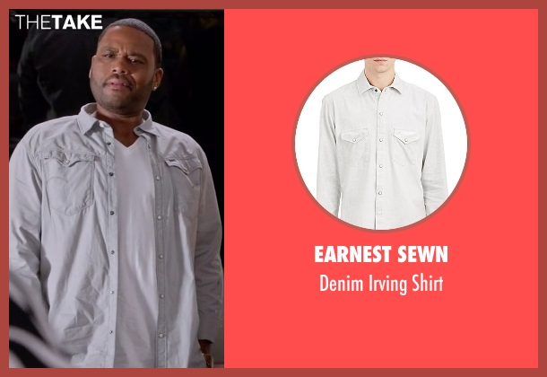 Earnest Sewn white shirt from Black-ish seen with Andre 'Dre' Johnson (Anthony Anderson)