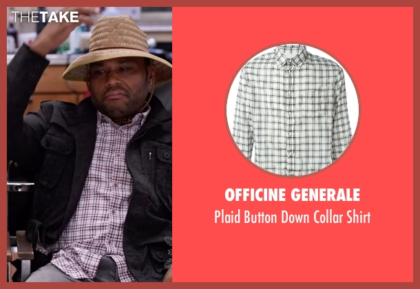 Officine Generale white shirt from Black-ish seen with Andre 'Dre' Johnson (Anthony Anderson)