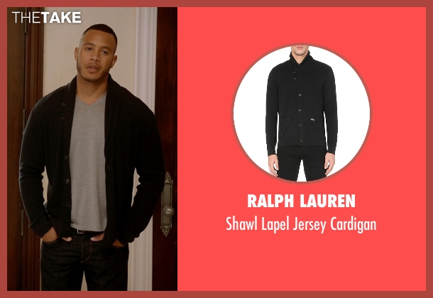 Ralph Lauren black cardigan from Empire seen with Andre Lyon (Trai Byers)