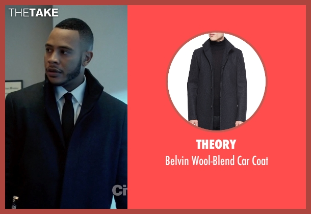 Andre Lyon's Black Theory Belvin Wool-Blend Car Coat from Empire ...