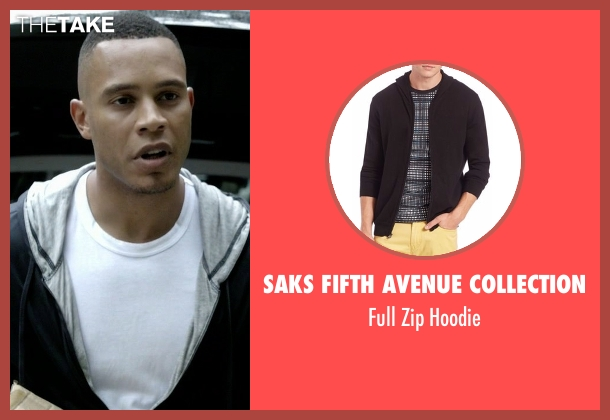 Saks Fifth Avenue Collection black hoodie from Empire seen with Andre Lyon (Trai Byers)