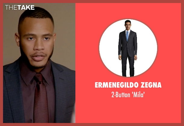 Ermenegildo Zegna black 'mila' from Empire seen with Andre Lyon (Trai Byers)