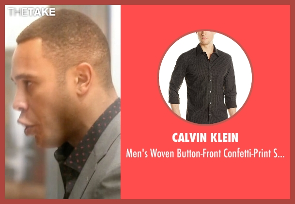 Calvin Klein black shirt from Empire seen with Andre Lyon (Trai Byers)