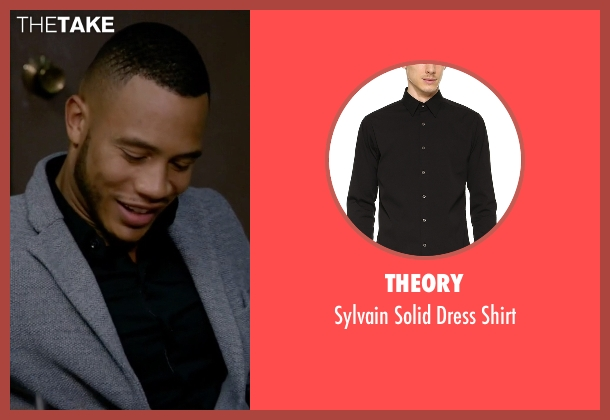 Theory black shirt from Empire seen with Andre Lyon (Trai Byers)