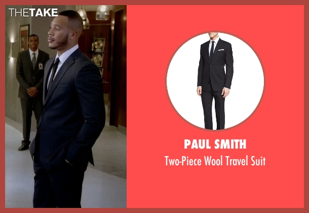 Paul Smith  black suit from Empire seen with Andre Lyon (Trai Byers)