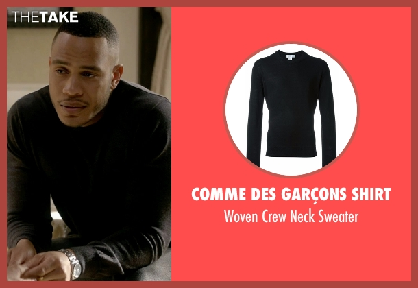 Comme Des Garçons Shirt black sweater from Empire seen with Andre Lyon (Trai Byers)