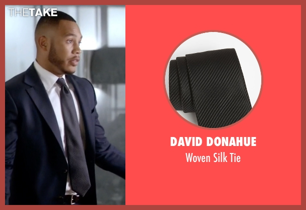 David Donahue black tie from Empire seen with Andre Lyon (Trai Byers)