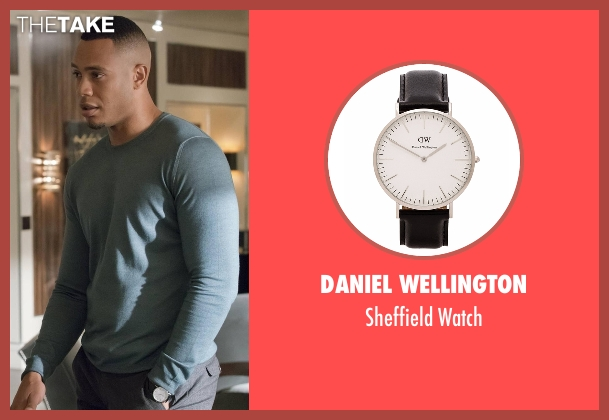 Daniel Wellington black watch from Empire seen with Andre Lyon (Trai Byers)