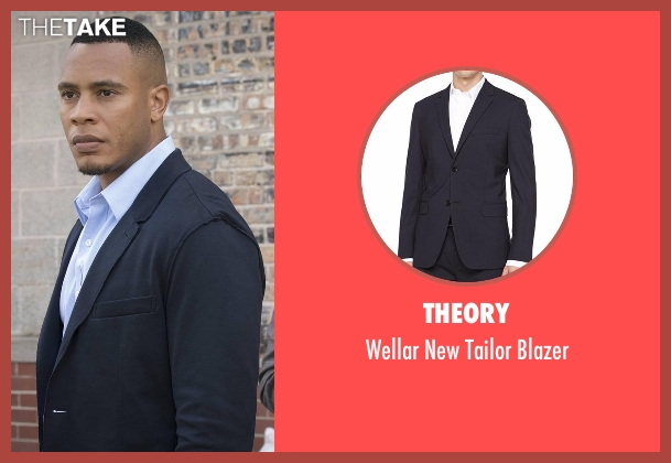 Theory blue blazer from Empire seen with Andre Lyon (Trai Byers)