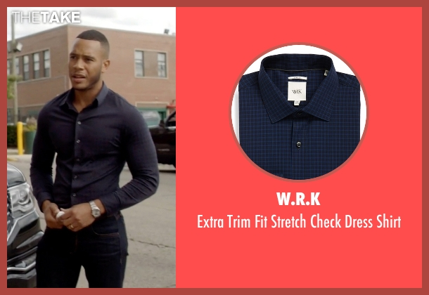 W.R.K blue shirt from Empire seen with Andre Lyon (Trai Byers)