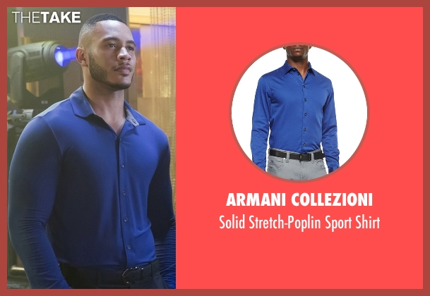 Armani Collezioni blue shirt from Empire seen with Andre Lyon (Trai Byers)