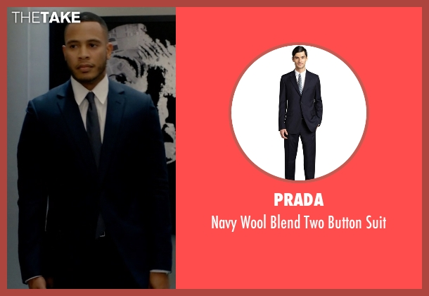 Prada blue suit from Empire seen with Andre Lyon (Trai Byers)