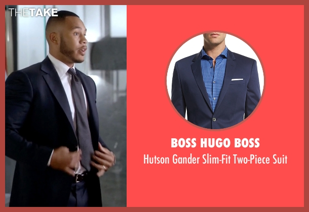 Boss Hugo Boss blue suit from Empire seen with Andre Lyon (Trai Byers)