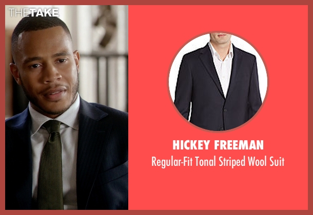Hickey Freeman blue suit from Empire seen with Andre Lyon (Trai Byers)