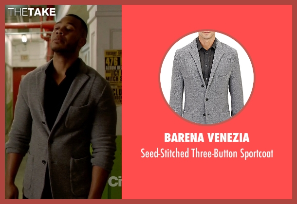 Barena Venezia gray sportcoat from Empire seen with Andre Lyon (Trai Byers)