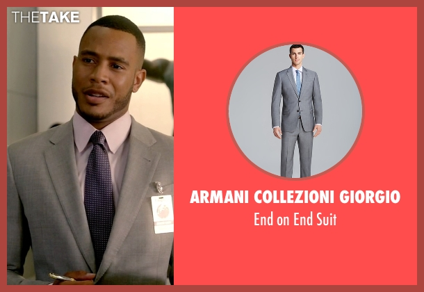 Armani Collezioni Giorgio gray suit from Empire seen with Andre Lyon (Trai Byers)