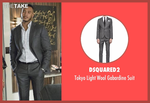 Dsquared2 gray suit from Empire seen with Andre Lyon (Trai Byers)