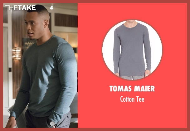 Tomas Maier gray tee from Empire seen with Andre Lyon (Trai Byers)