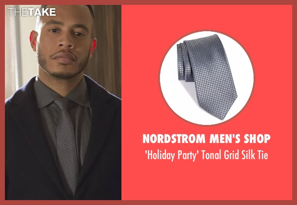 Nordstrom Men's Shop gray tie from Empire seen with Andre Lyon (Trai Byers)