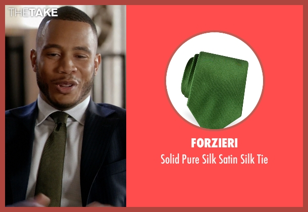 Forzieri green tie from Empire seen with Andre Lyon (Trai Byers)