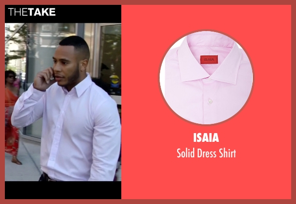 Isaia pink shirt from Empire seen with Andre Lyon (Trai Byers)
