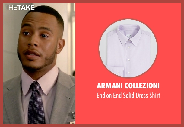 Armani Collezioni purple shirt from Empire seen with Andre Lyon (Trai Byers)