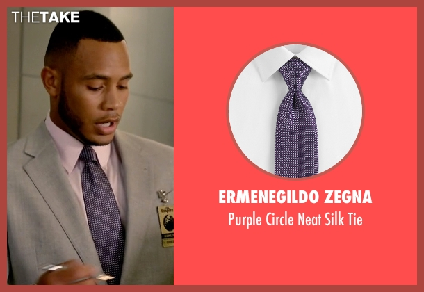 Ermenegildo Zegna purple tie from Empire seen with Andre Lyon (Trai Byers)