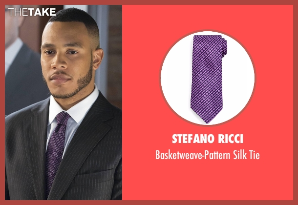 Stefano Ricci purple tie from Empire seen with Andre Lyon (Trai Byers)