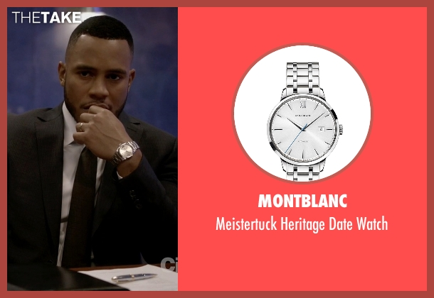 Montblanc silver watch from Empire seen with Andre Lyon (Trai Byers)