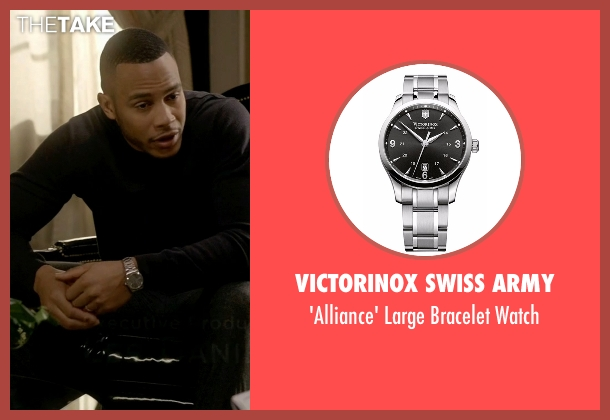 Victorinox Swiss Army silver watch from Empire seen with Andre Lyon (Trai Byers)