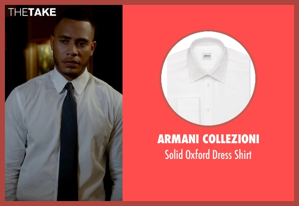 Armani Collezioni white shirt from Empire seen with Andre Lyon (Trai Byers)
