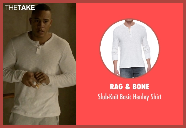Rag & Bone white shirt from Empire seen with Andre Lyon (Trai Byers)