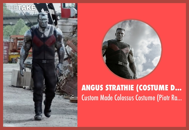 Angus Strathie (Costume Designer) costume from Deadpool seen with Andre Tricoteux (Piotr Rasputin / Colossus)
