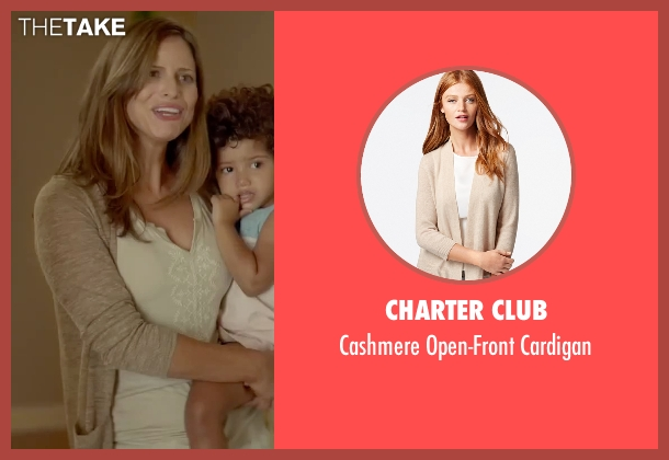 Charter Club beige cardigan from Sleeping with Other People seen with Andrea Savage (Naomi)