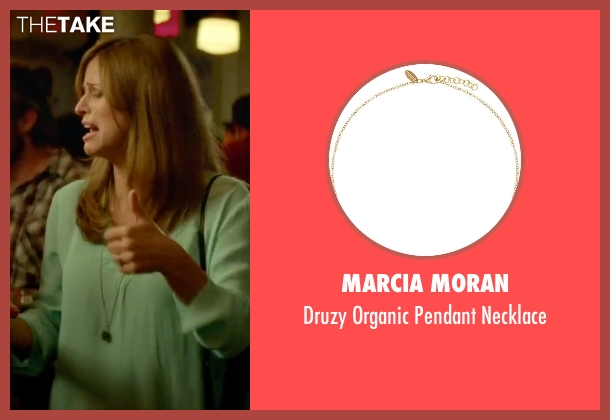 Marcia Moran silver necklace from Sleeping with Other People seen with Andrea Savage (Naomi)