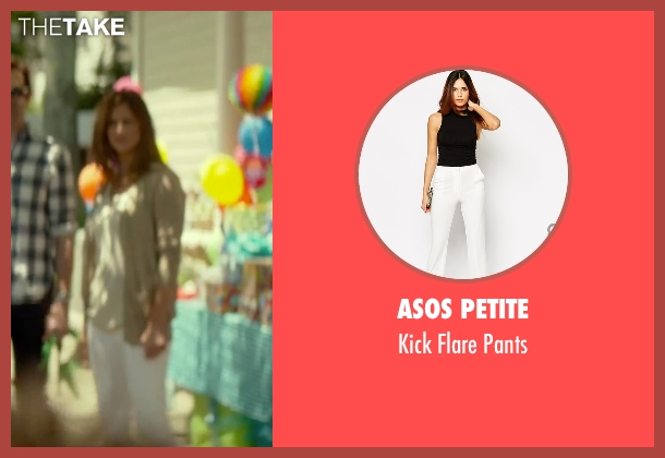 Asos Petite white pants from Sleeping with Other People seen with Andrea Savage (Naomi)
