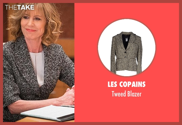 Les Copains gray blazer from The Good Wife seen with Andrea Stevens (Christine Lahti)